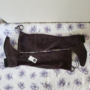 a new day Sidney Over Knee Boots grey Sz 9